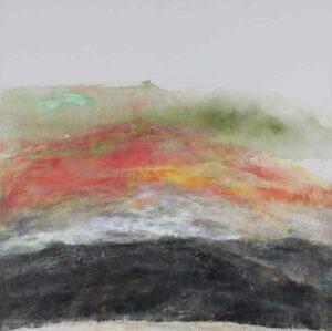 James Sum artist. Sunrise, 2017. 76 x 76 cm. oil on canvas.
