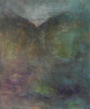 James Sum artist. Distant Mountain, 2017. 90 x 66 cm. oil on canvas.