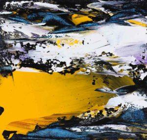 Richard Wong, Malaysian artist. Autumn in Alaska, 2017. oil on canvas, 46 x 48 cm