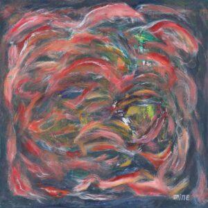 R4689. Matsumine Yasuro 松峰康郎 artist Japan. 游历 Waft Pass, 2019. acrylic on canvas. 80 x 80 cm.