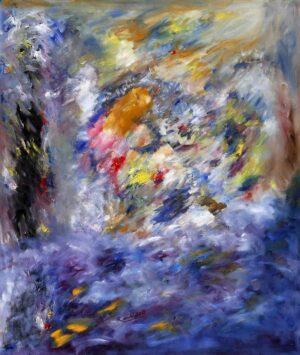 R3743. Ramli Harun. Biru Itu Suci Di Hati. 2015. Oil on canvas