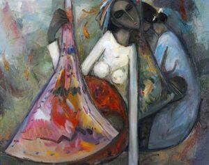 R1675. Keng Seng Choo 龚明金. . 生活的情趣2. 76 x 97cm. 1997