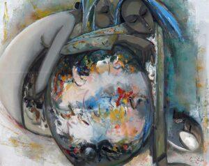 R1677. Keng Seng Choo 龚明金. Joy of Living 4生活的情趣 4. 76 x 97cm. 1997