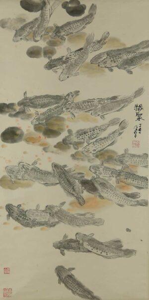 R527. Wong Nai Chin 黄乃群 - 缘聚. 1997. 137 x 69cm (轴)