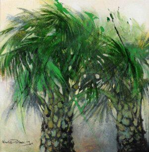 Fong Kim Sing, Misty Morning 雾锁清晨, 2016, oil on canvas, 91 x 91 cm.