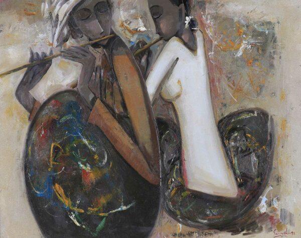 Keng Seng Choo. Joy of Living (5), 生活的情趣, 1997, oil, 76 x 96 cm. R1680