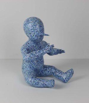 Lai Hsin Lung, Explore the Future sculpture, acrylic on PVC, 33 x 33 x 45 cm, 2015