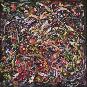 Ramli Samsuri, Harmony, 2017, acrylic on canvas, 60 x 60 cm.