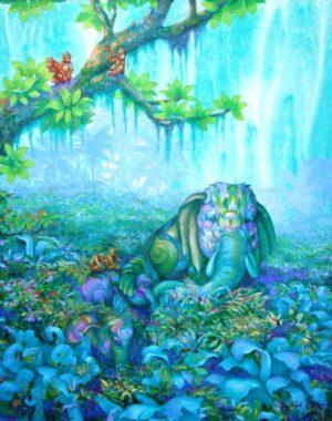 Kris Surajaroenjai. Thai Artist, Oriental Fantasy, 2011, oil on canvas, 100 x 80 cm