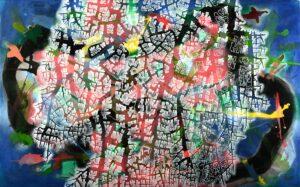 Maitree Homthong. Nature, 2014, acrylic on canvas. 124 x198 cm.