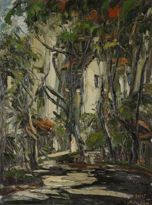 Peter Liew, Malaysian artist. Morning Scene of Desa Condo, 2007, oil on canvas, 124 x 94 cm.
