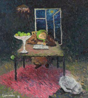 Painting by Stroynova Liubov, Artist Russia, Dream, Mar2015, oil on canvas, 100 x 90cm